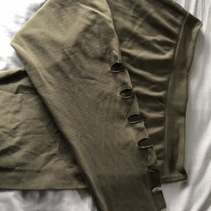 Pants - Olive foot less tights
